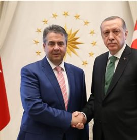 German FM Gabriel at the Presidential Complex
