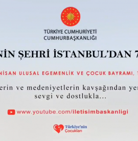 Concert of love from Istanbul to the world by the Presidency on April 23